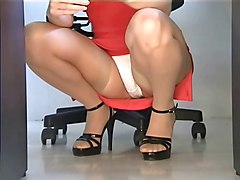 Office Upskirt Stockings