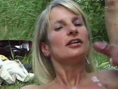 Bukkake Gangbang Sperm Outdoor