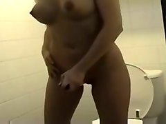 Bus Blonde Oil Dildo Toilet