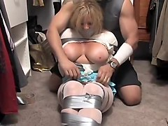 Bus Blonde Gagging Milf Tied