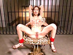 petite japanese slut gets tied up and fucked in the dungeon