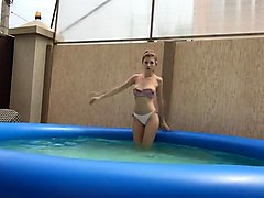 foot in pool