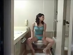 Cute Asian Girl Masturbating In Toilets