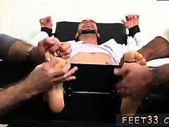tied up and tickling handjob