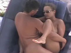 mature swinger in beach