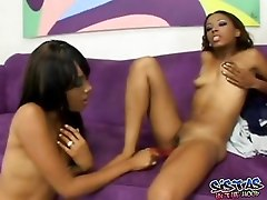 ebony mom and daughter are getting both fucked