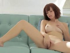 redhead in stockings getting creampie