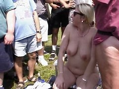 white mature cougar mom is a nudist and gets it